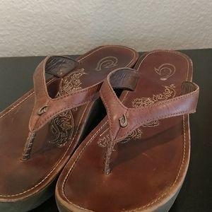 Olukai platform flip flop sandals